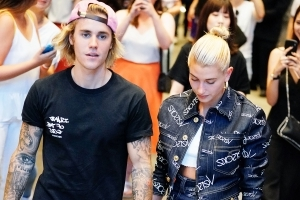 Justin Bieber Shares Romantic Photos of Himself With Fiancé Hailey Baldwin in a Pool