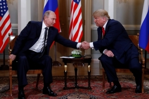 Donald Trump and Vladimir Putin meet in Helsinki