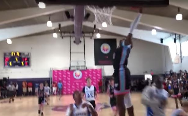 "736535935a8 Sport  VIDEO  Fans chant ""overrated"" at 13-year-old LeBron James Jr ..."