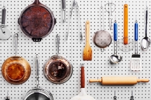 How to Install a Pegboard Wall and Organize Your Kitchen Like Julia Child