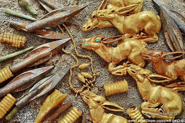 A stash of 2,800-year-old gold jewellery has been unearthed by archaeologists in Kazakhstan