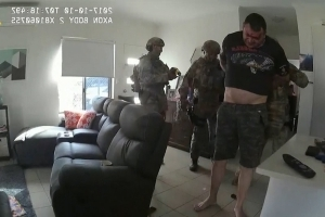 World: Dramatic surveillance video shows the moment two Florida