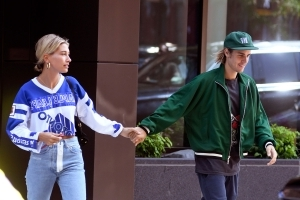 Smiling Justin Bieber and Hailey Baldwin Step Out in N.Y.C. After Her Loving Instagram Comment