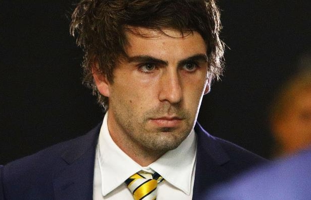 Andrew Gaff of the West Coast Eagles at the AFL Tribunal hearing into his striking offence, at AFL House.