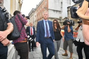 Footage shows England cricketer Ben Stokes 'mimic' gay man, court told