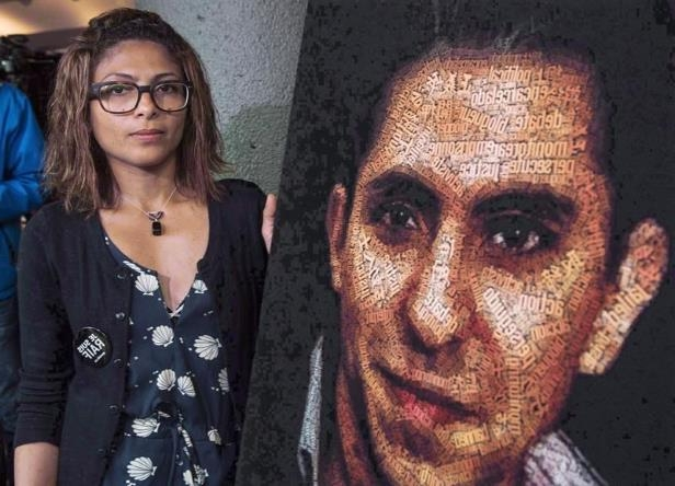 Raif Badawi posing for the camera