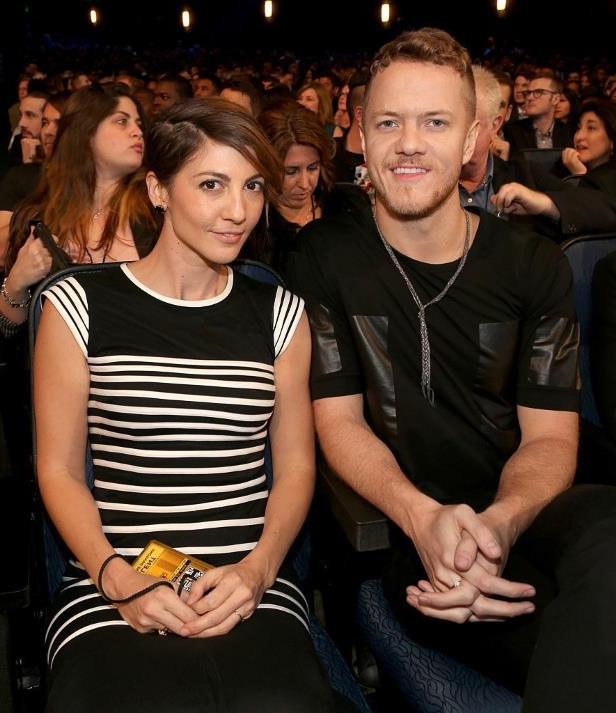 Slide 32 of 92: On April 26, Imagine Dragons vocalist Dan Reynolds announced that he and wife Aja Volkman, the frontwoman for indie band Nico Vega, were splitting.