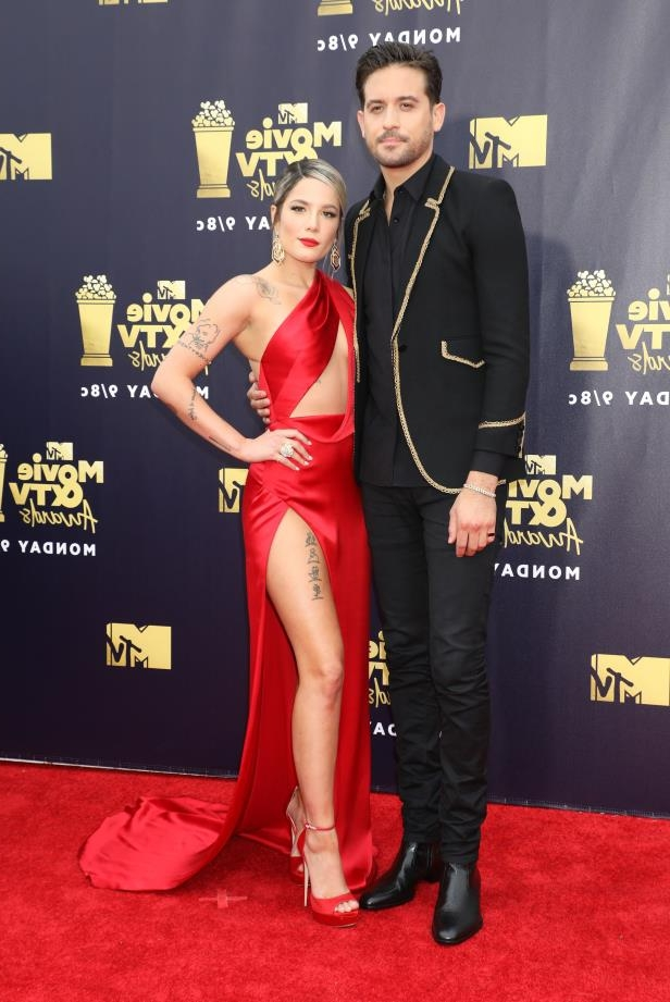 Slide 4 of 92: Singer Halsey announced on July 3 that she and rapper G-Eazy had split. The couple had been together since late summer 2017.