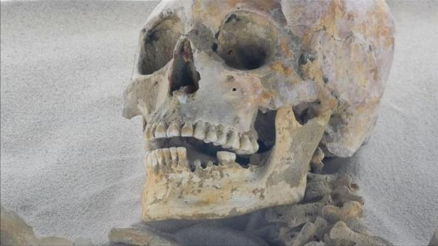 Mexican archaeologists find oldest Mayan remains in cave. Pic: INAH