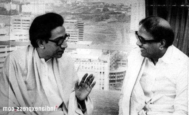 Slide 8 of 15: The DMK patriarch had retreated from mainstream politics in 2016 after being diagnosed with a drug-induced allergy and his son, M K Stalin took over as the working president of the party. In Pic: M Karunanidhi with Shiv Sena leader Bal Thackeray. (Express archive photo)