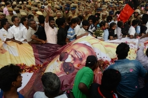 How M Karunanidhi's Supporters Bid Adieu To Their Leader