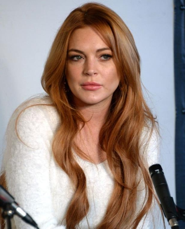Lindsay Lohan smiling for the camera