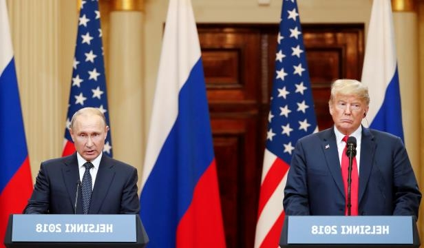 President Trump and Russian President Vladimir Putin, at their July news conference in Helsinki.