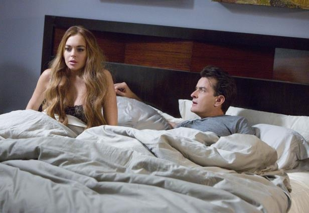 Slide 26 of 37: Charlie Sheen, Lindsay Lohan