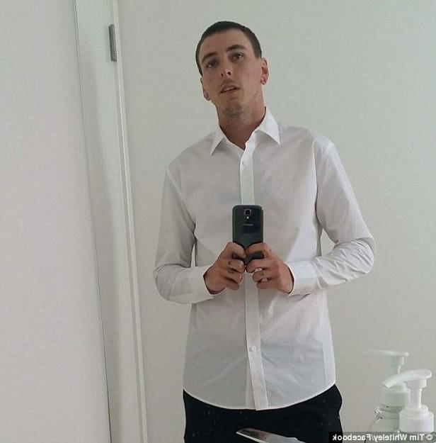 a man standing in front of a mirror posing for the camera: Timothy Andrew Whiteley (pictured), 26, has since been charged with murder over the toddler's suspicious death