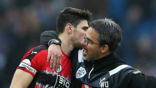 David Wagner and Christopher Schindler: Huddersfield Town's David Wagner and Christopher Schindler