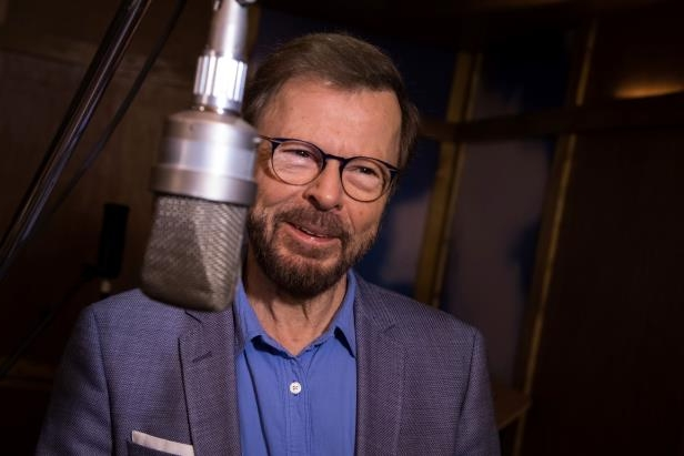 Slide 19 of 19: Bjorn Ulvaeus, former band member of the group ABBA, poses for photographers in December 2017 in a recreation of the Polar recording studio in Sweden, where the group recorded many of their notable albums including Super Trouper.