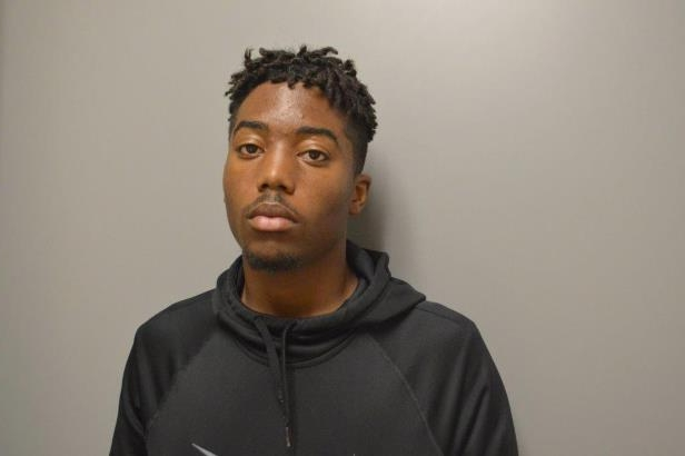 This booking photo released by the Manteca Police Department shows suspect 18-year-old Tyrone McAllister, Wednesday, Aug. 8, 2018. McAllister, the son of the Union City police chief, and a 16-year-old boy were arrested Wednesday on suspicion of attempted robbery, elder abuse and assault with a deadly weapon for an attack on a 71-year-old Sikh man in Manteca, Calif. Sahib Singh, who doesn't speak English, was attacked Monday, Aug. 6, while walking at a park.  (Manteca Police Department via AP)