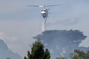 Water bomber deployed as Mutdapilly residents warned to prepare to leave