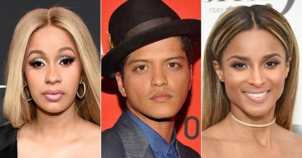 4d833bbe a close up of Ciara, Bruno Mars posing for the camera: Bruno Mars Replaces