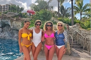 Denise Richards, 47, models pink bikini as she poses for FIRST TIME with Real Housewives Of Beverly Hills co-stars Camille, Lisa and Dorit