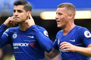Morata takes dig at Conte over style of play