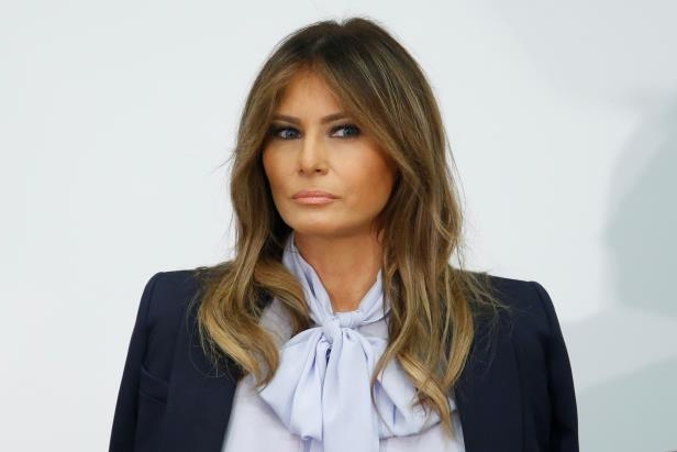 First lady Melania Trump attends the Federal Partners in Bullying Prevention Cyberbullying Prevention Summit in Rockville, Maryland, on August 20, 2018.