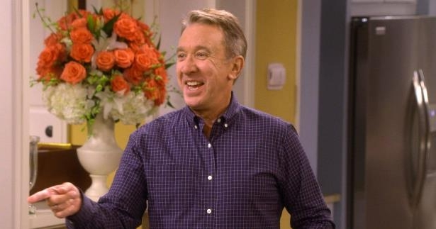 Tim Allen standing in front of a mirror posing for the camera: 'Last Man Standing' first photo of the new season 7 cast revealed