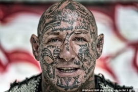 a close up of a person: Finks bikie boss Brent James 'BJ' Reker (pictured) made a brief appearance in the Melbourne Magistrates Court on Thursday after he was charged with multiple offences