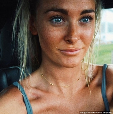 a close up of a woman: Sinead McNamara, 20, from Port Macquarie on the New South Wales Mid North Coast, died on her last day working on the Mayan Queen IV in the Greek Islands