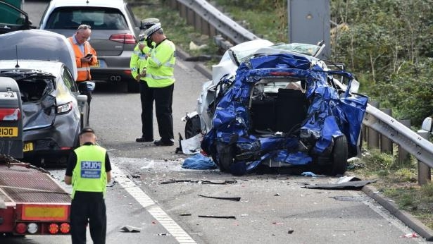 UK News: Two killed in seven-vehicle collision on the M5