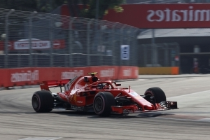Raikkonen fastest in 2nd practice for Singapore GP