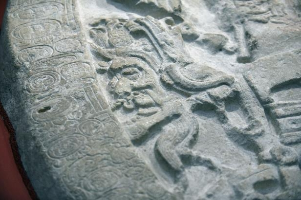 The 1,500-year-old altar displays an engraving of the Mayan king Chak Took Ich'aak