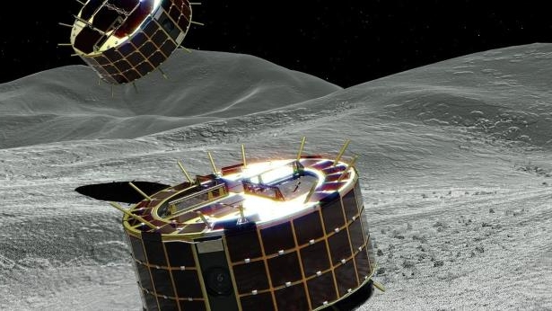 Image result for Japan's Two Hopping Rovers Successfully Land on Asteroid Ryugu
