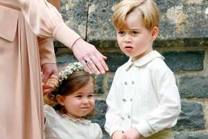 Prince George, Princess Charlotte Steal the Spotlight Again at Family Friend's Wedding