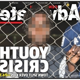The ABC has pixelated the front page of the Centralian Advocate of a 10-year-old boy.