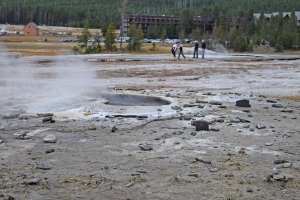 For years tourists tossed trash in a Yellowstone geyser. This stuff was just coughed up.