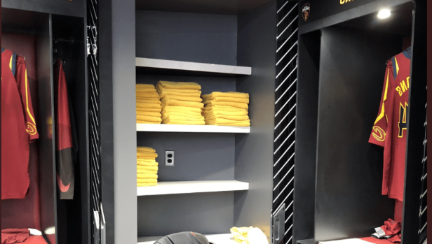 dc3ec9ccd1c Sport: LeBron's old locker in Cleveland now a towel closet ...