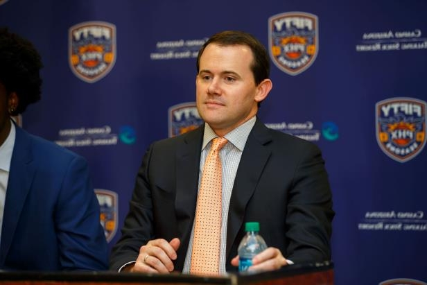 2bcdc2b7b Ryan McDonough wearing a suit and tie  Phoenix Suns general manager Ryan  McDonough was fired