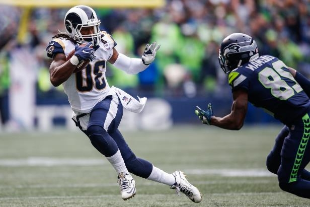classic fit 9a906 00e2c SEATTLE, WA - OCTOBER 07  Running Back Todd Gurley III  30 of the