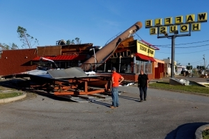 As southeast reels from Michael's destruction, closed Waffle Houses begin to reopen