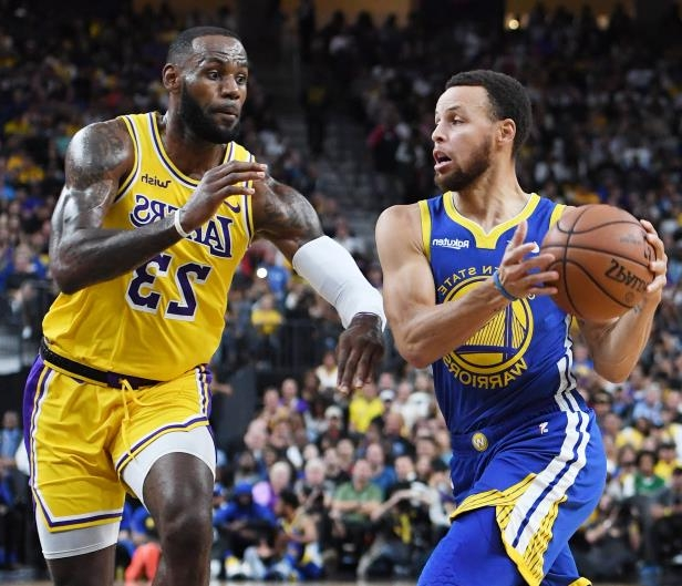 c3106a70c82 Sport  Lakers-Warriors most-watched NBA preseason game ever on ESPN ...