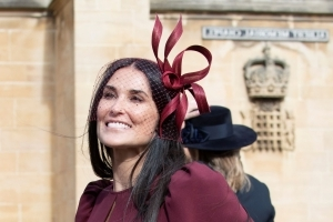 Demi Moore Makes Surprise Appearance at Princess Eugenie's Royal Wedding