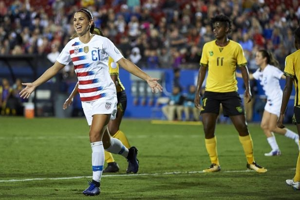 a9df9be6fde Sport  US headed to Women s World Cup with 6-0 win over Jamaica ...