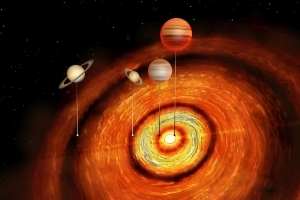 Massive planets spotted near young star leave astronomers scratching their heads