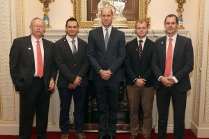 Prince William hosts hero cave divers