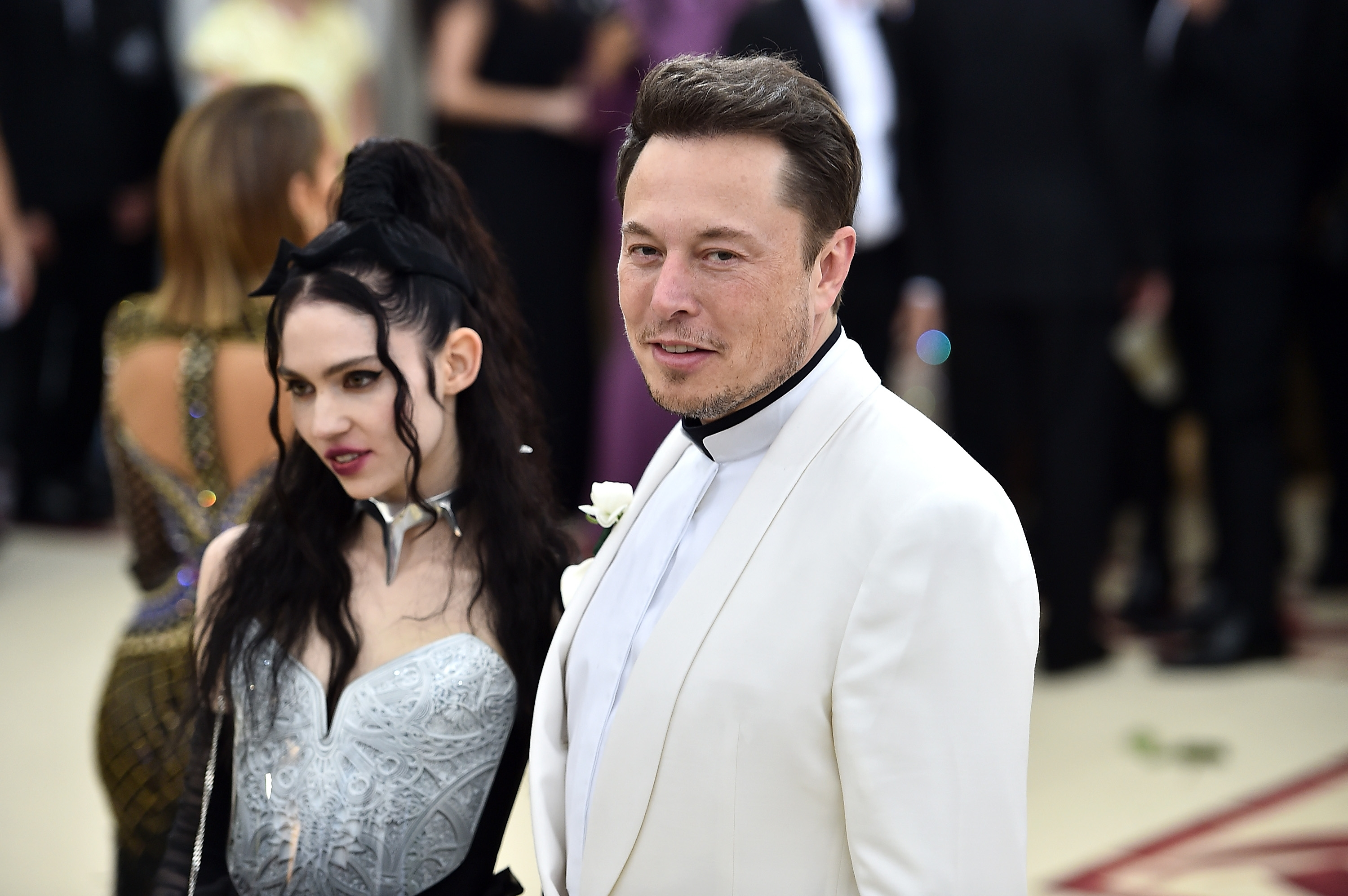 Entertainment: Elon Musk, 47, is seen with girlfriend Grimes
