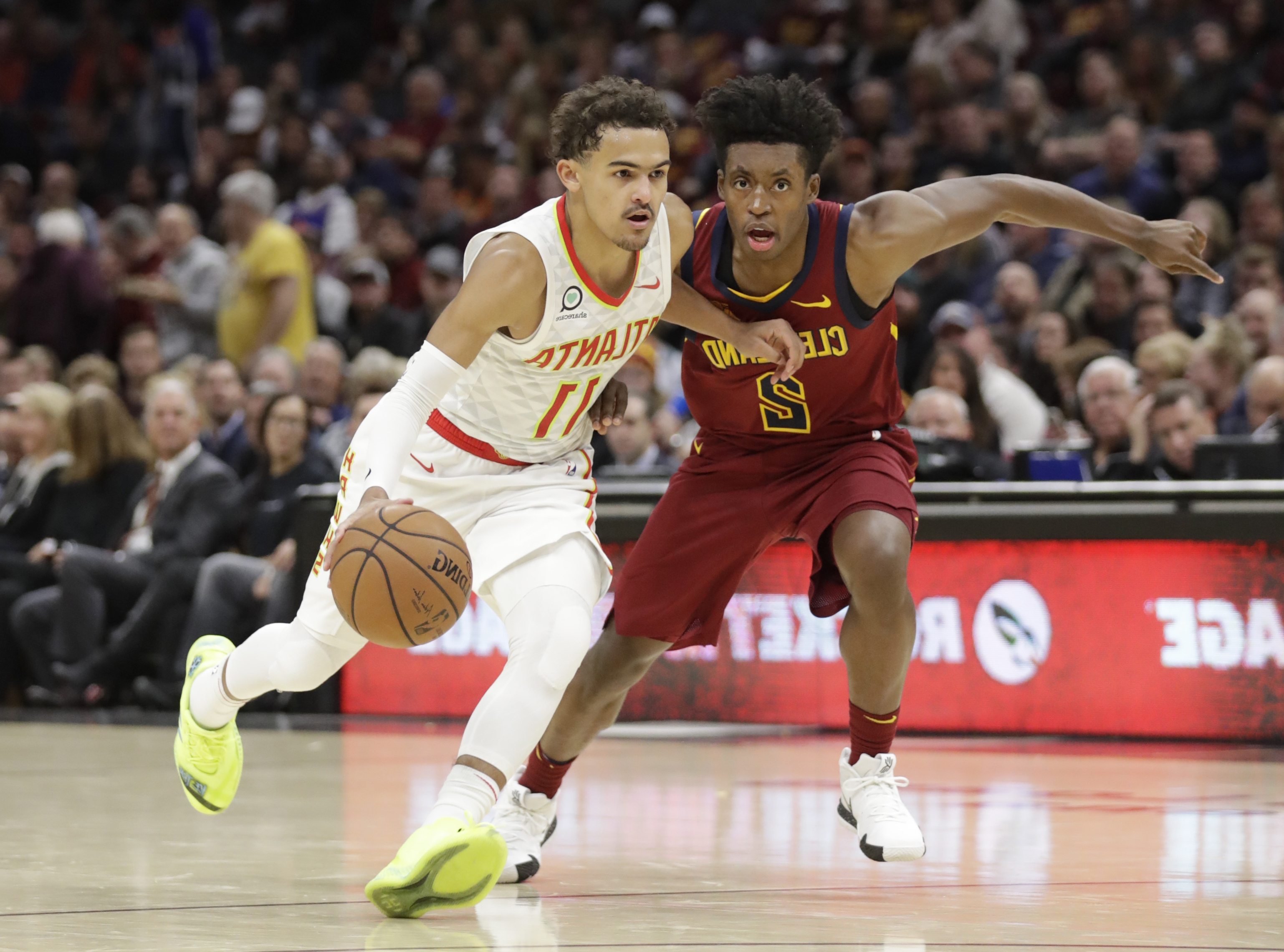 1ed554413af Sport: Rookie Young scores 35, Hawks rout LeBron-less Cavs 133-111 ...