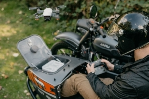 Ural Air Limited Edition is a sidecar motorcycle with a drone
