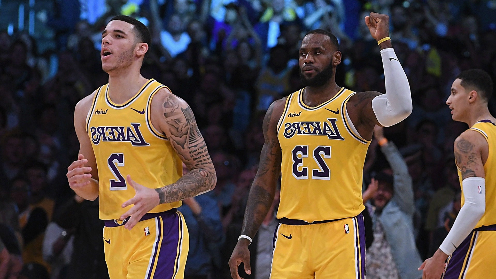 6a266bee5fd Lakers' LeBron James, Lonzo Ball find much-needed chemistry with tough road  ahead